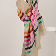 Colourful Stripes Wool Scarf