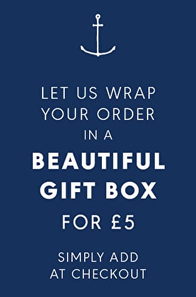 Let us wrap your order in a beautiful gift box for £5 simply add at checkout