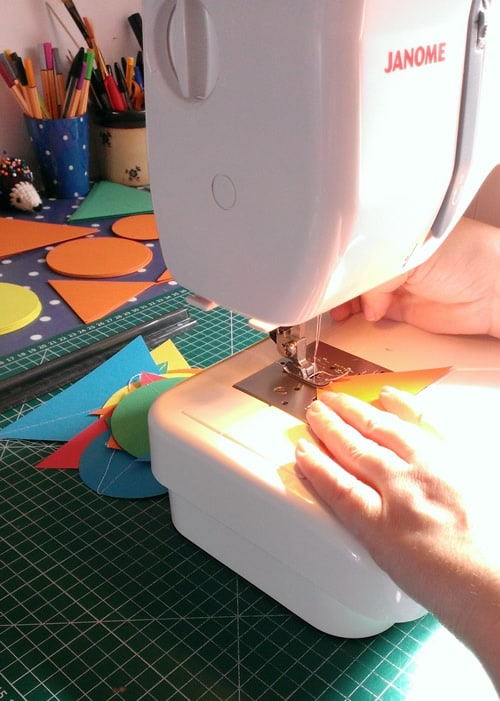 Sewing Seasalt Paper masts together