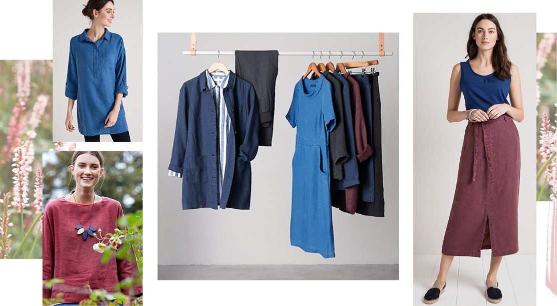 Montage of New Linen Clothing.