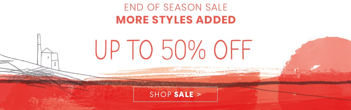 End of season sale, Up to 50% off!