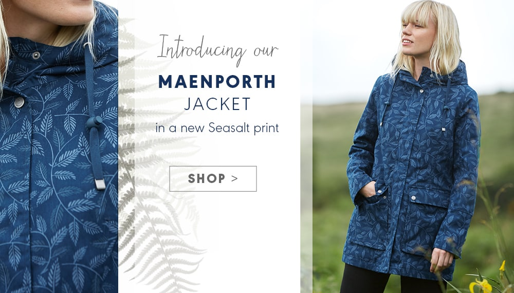 Introducing the Maenporth jacket, in a new Seasalt print
