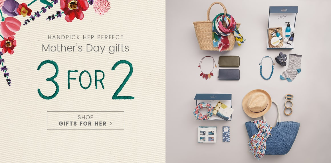 Handpick her perfect Mother's day gifts. 3 for 2. Shop Gifts for Her.