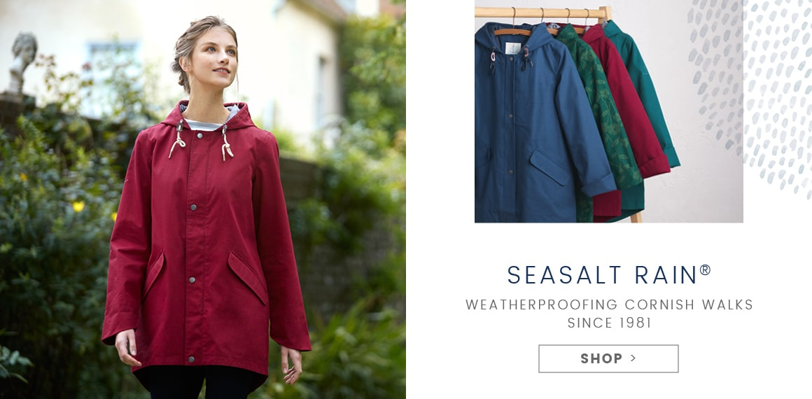 Seasalt Rain. Weatherproofing Cornish Walks since 1981. Shop