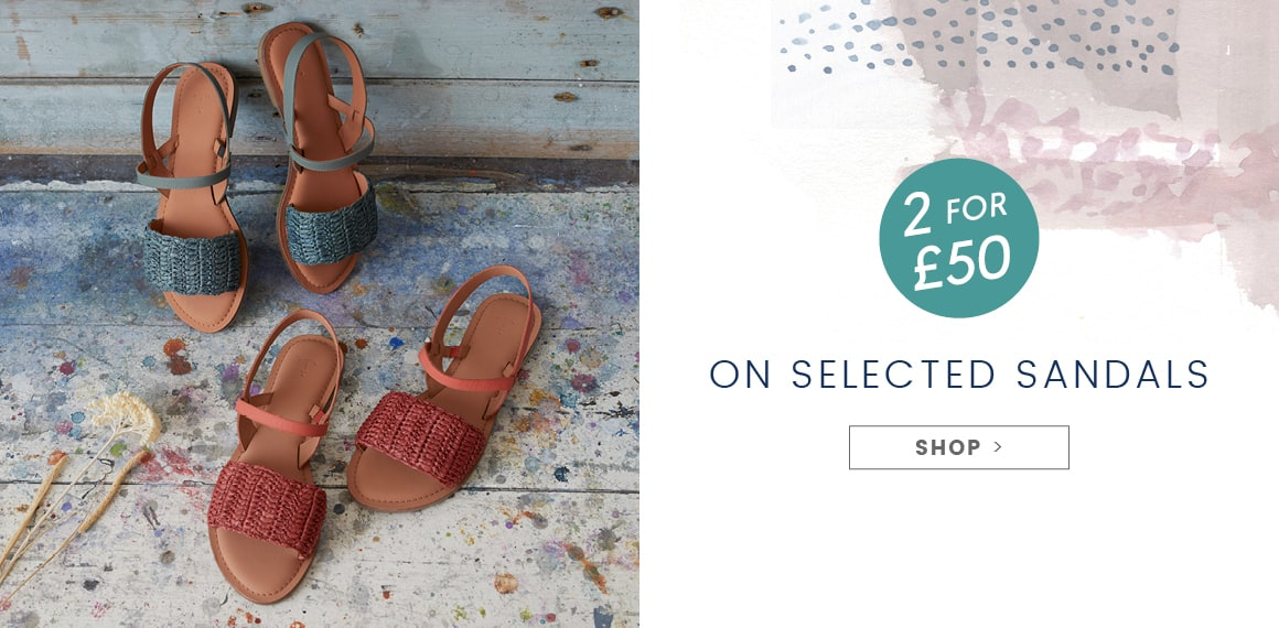 2 for £50 on selected Sandals.