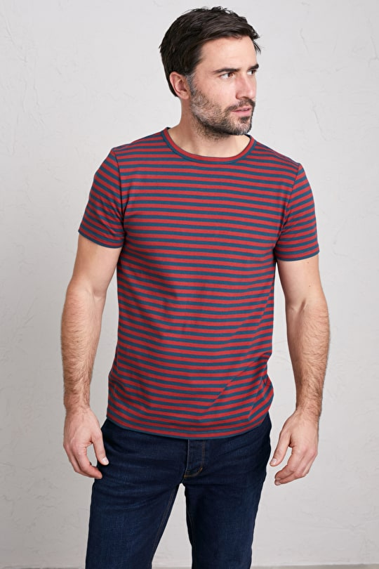 Men's Seven Seas Sailor Tee, Breton Striped Top - Seasalt Cornwall