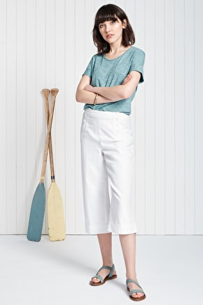 Water Rail Top, Cotton Jersey T-shirt - Seasalt