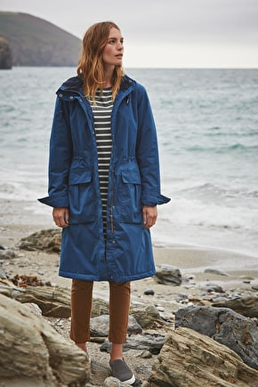 Compass Coat, Fleece lined waterproof raincoat - Seasalt
