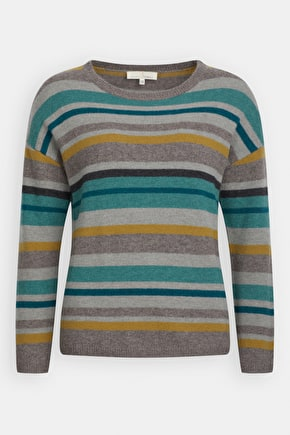 Magnolia Jumper, Striped Merino Wool Jumper - Seasalt Cornwall