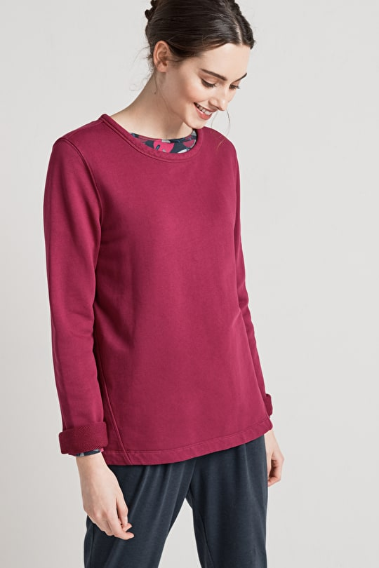 Flattering Cotton Sweatshirt - Seasalt
