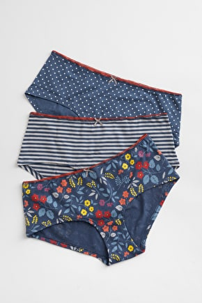 Nauti Knickers Gift Box. Patterned cotton underwear - Seasalt