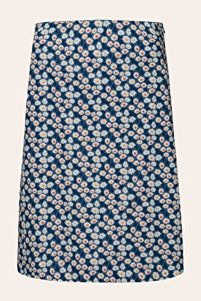 Printed Knee Length Cotton Portfolio Skirt - Seasalt
