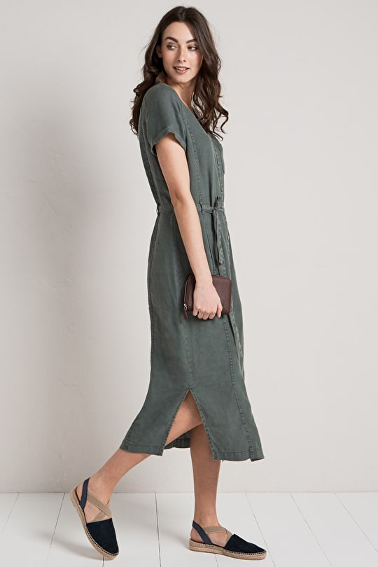 Sanding Dress, Loose Fit Ankle Length Dress - Seasalt