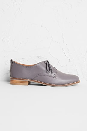Beryan Shoe, Soft Leather Lace Up - Seasalt