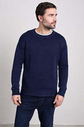 Men's Mawnan Glebe Jumper, Cotton Crew Knit  - Seasalt Cornwall