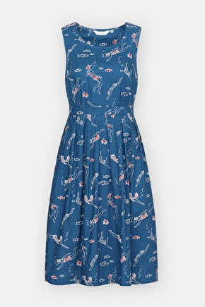 Full Skirted Cotton Retro Fit and Flare Seamstress Dress - Seasalt