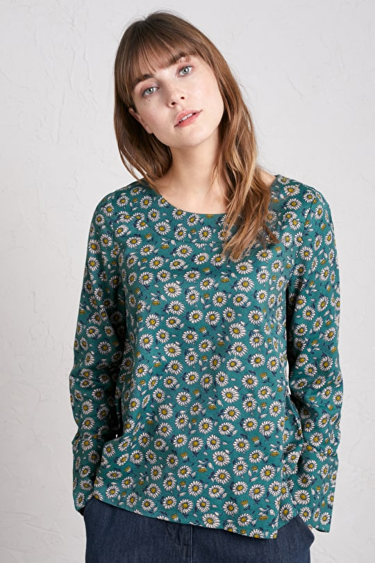 Dew Drop Top, Lightweight cotton-viscose twill Top - Seasalt