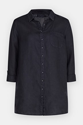 Rockcliff long workwear shirt, 100% linen - Seasalt