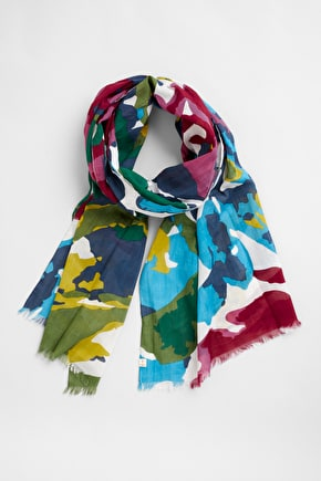 New Everyday Scarf. Printed Lightweight Cotton - Seasalt