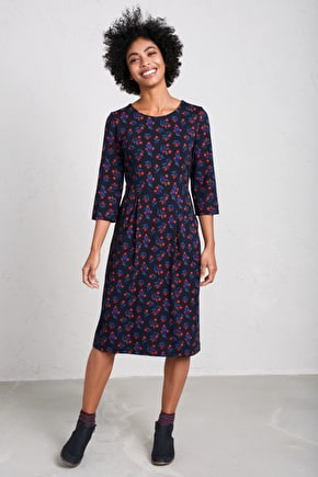 Malthouse Dress. Soft Organic Cotton Jersey - Seasalt