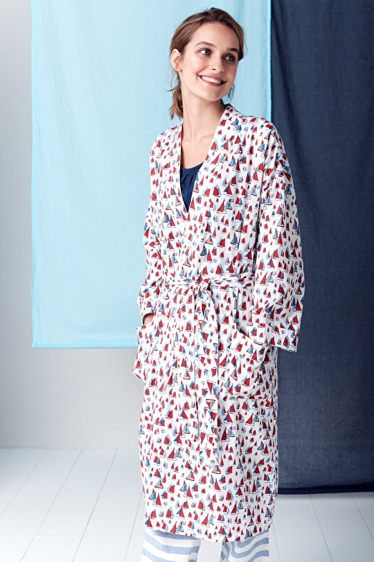 Musselburgh Cotton Voile Dressing Gown - Seasalt