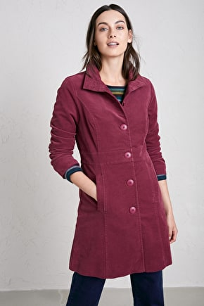 Coastal Forager Coat, Cotton Moleskin Twill Coat - Seasalt