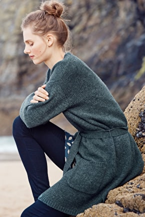 Saints Way Cardigan, Wool & Alpaca Blend - Seasalt