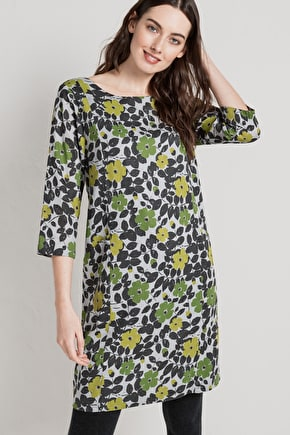 Very Flattering Cotton A-Line Shift Dress - Seasalt