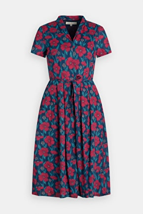 Top Terrace Dress, Drapey 100% Cotton Floral Dress - Seasalt Cornwall