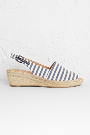 Syllan Espadrille, Canvas Wedged Heel - Seasalt Cornwall