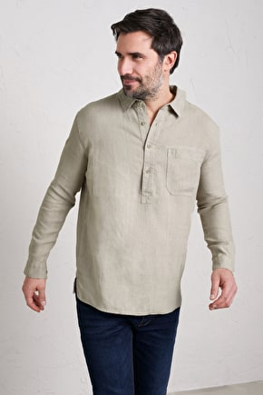 Men's Artist's Shirt, Easy Fitting Linen Shirt - Seasalt Cornwall