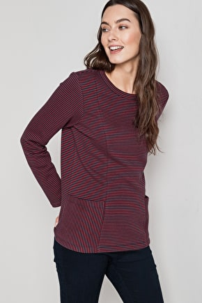 Elegant Smock Style Cotton Sweatshirt - Seasalt