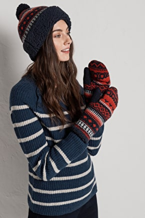 Luxurious Merino Blend Mittens. With Fleece Lining - Seasalt
