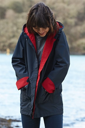 Reversible raincoat, classic coastal waterproof - Seasalt