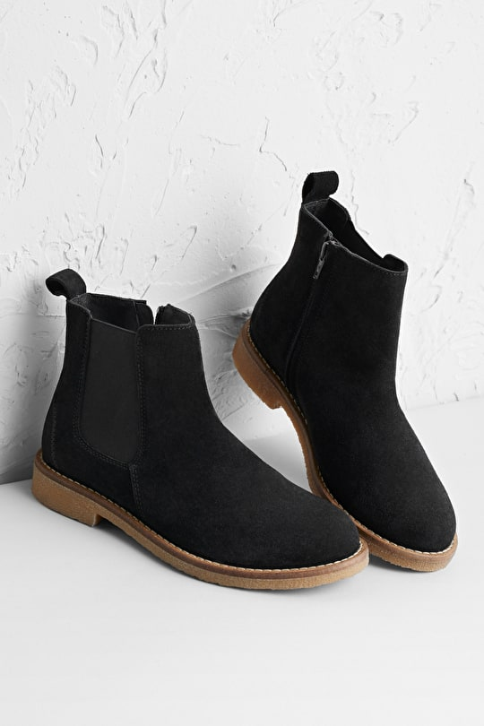 Winding Lane Boot, Soft Suede Chelsea Boots