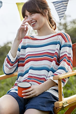 Portscatho Jumper, Knitted Smock Style Striped Jumper - Seasalt