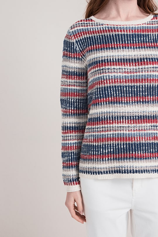 Ponsanooth Jumper, Cotton and Linen Striped Jumper - Seasalt
