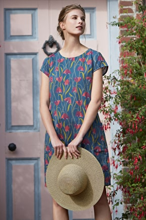 River Cove Dress, Knee Length Cotton Shift Dress - Seasalt Cornwall