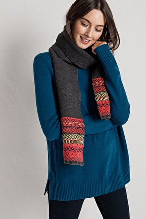 Stylish Winter Scarf In Merino Blend & Scandi Knit - Seasalt