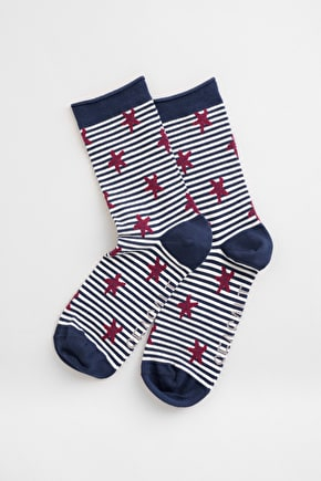 Colourful Arty Organic Cotton Ankle Socks - Seasalt