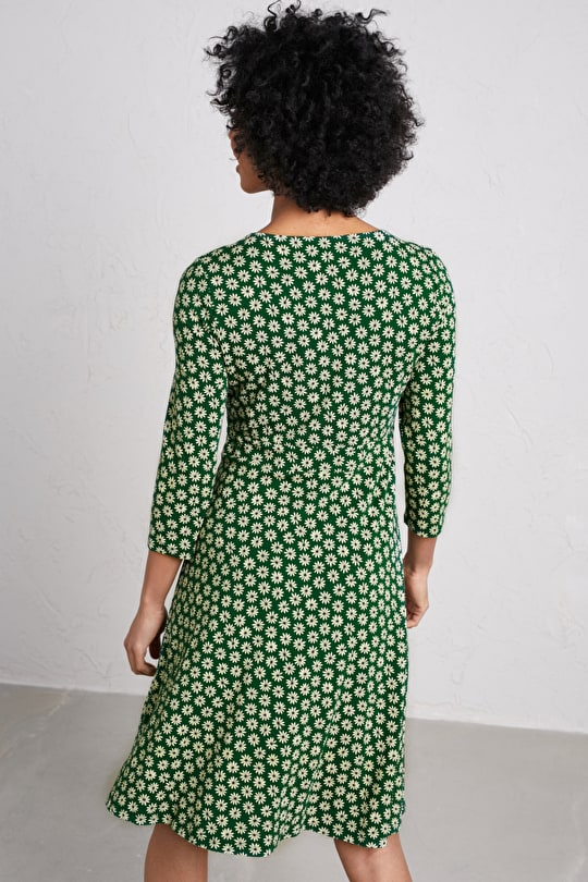 Fit & Flare Bamboo Jersey Dress. In Unique Seasalt Prints