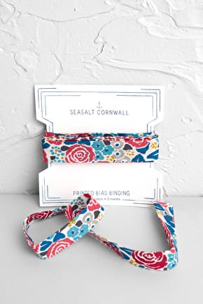 100% Cotton Bias Binding, Hand Drawn Prints - Seasalt Cornwall