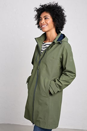 Coverack Coat, Waterproof Fitted Long Coat - Seasalt Cornwall