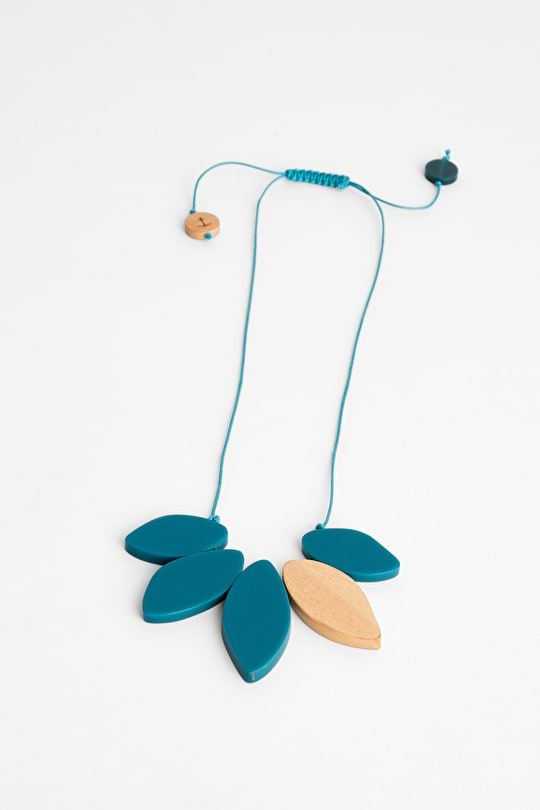Paint Splash Haldu Wood Necklace - Seasalt
