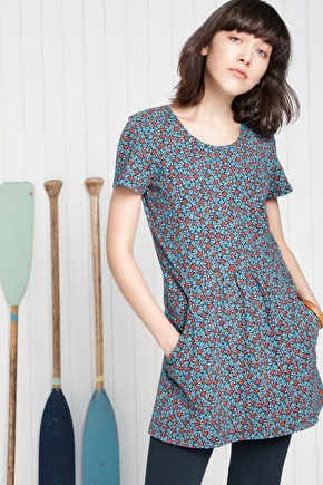 Devoran Tunic, Organic Cotton Jersey Tunic  - Seasalt