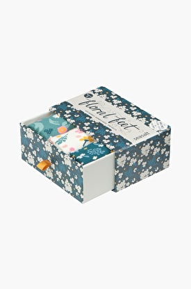 Womens Floral Feet Socks Box Of 3