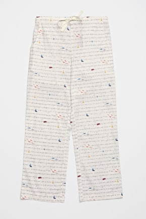 Beside The Fire Pyjamas Bottoms, Soft Cotton Poplin PJ's - Seasalt