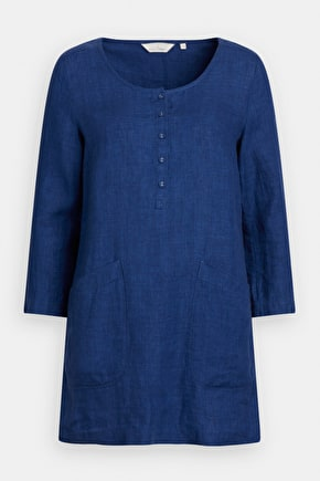 Highlight Tunic, Easy-Fitting Pure Linen Tunic Top - Seasalt Cornwall