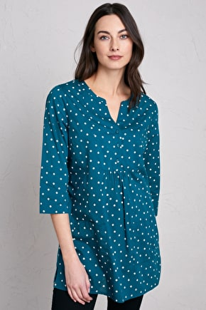Aventurier Tunic, V-neck Cotton Smock Tunic - Seasalt