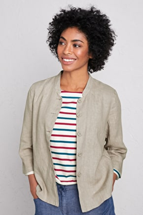 Casting Call Jacket, Linen Relax Fit Jacket - Seasalt Cornwall